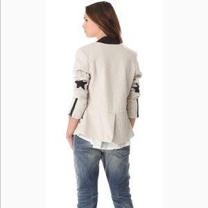 🧥Scotch&Soda leather ⭐️ tweed blazer